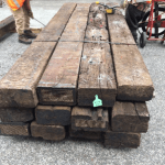 U.K Oak used hardwood railway sleepers 3.4 meter long