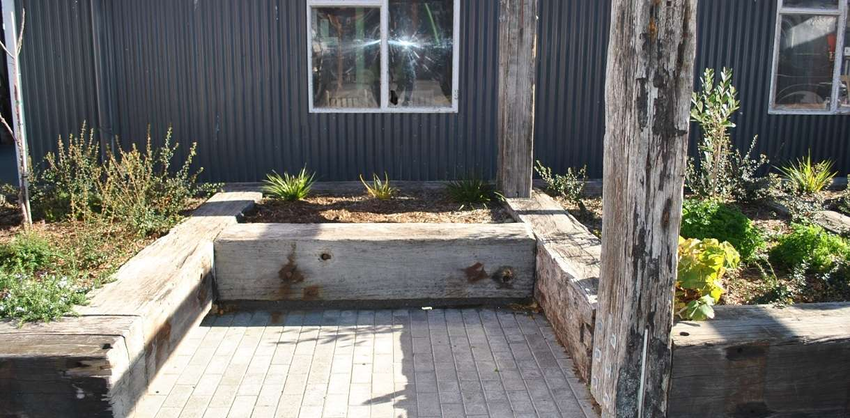 Rustic timber gardens